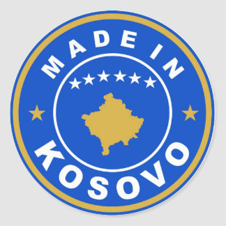 made in kosovo country flag product label round round stickers