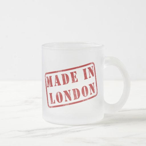 Made in London Frosted Glass Mug