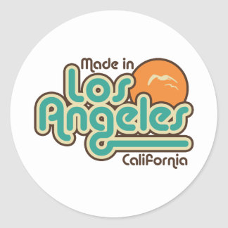 Made in Los Angeles Classic Round Sticker