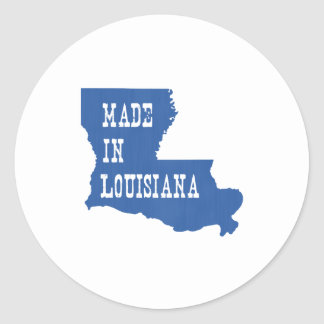 Made In Louisiana Classic Round Sticker