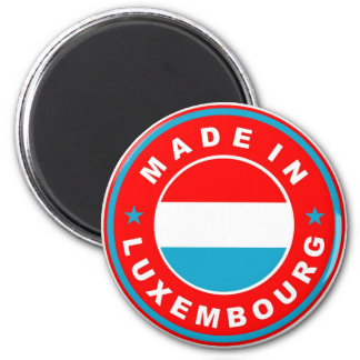made in luxembourg country flag product label 6 cm round magnet