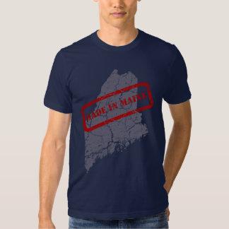 Made in Maine Grunge Navy Blue T-shirt
