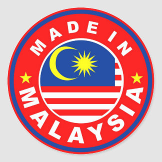 made in malaysia country flag product label stickers