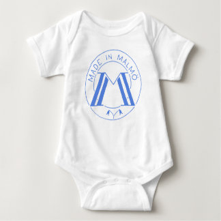 Made in Malmö wht/blue Baby Bodysuit