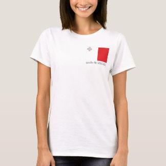 Made in Malta flag tshirt