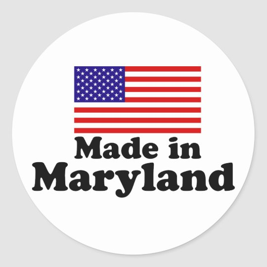 Made in Maryland Classic Round Sticker