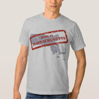Made in Massachusetts Grunge Grey T-shirt