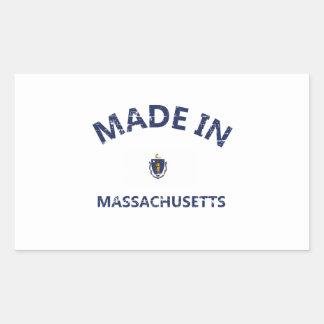 Made in MASSACHUSETTS Rectangular Stickers