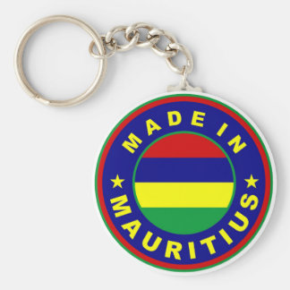 made in mauritius country flag product label round basic round button key ring