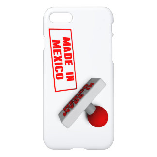 Made in Mexico Stamp or Chop on Paper Concept in 3 iPhone 7 Case