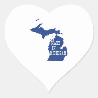 Made In Michigan Heart Sticker