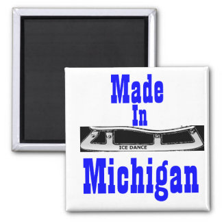 Made in Michigan Ice Dance Magnet