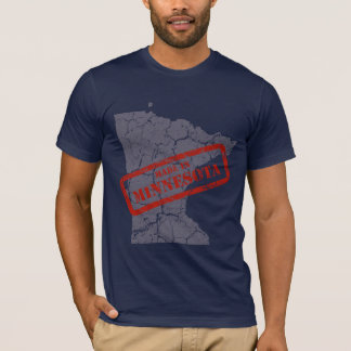 Made in Minnesota Grunge Mens Navy Blue T-shirt