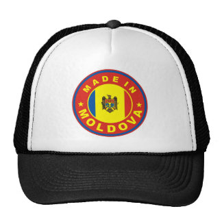 made in moldova country flag product label round cap