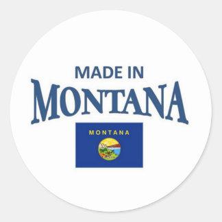 Made in Montana Round Sticker