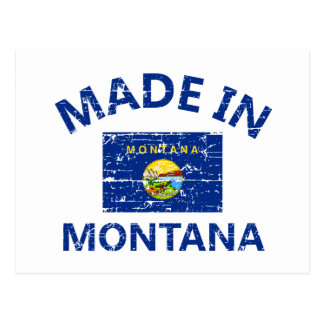 Made in MONTANA United States Flag designs Post Card