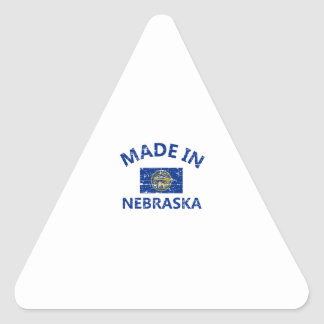 Made in NEBRASKA United States Flag designs Triangle Sticker