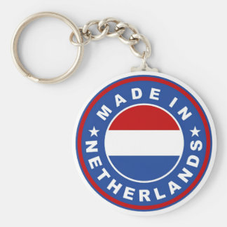 made in netherlands country flag product label keychains