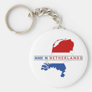 made in netherlands country map shape flag label keychain