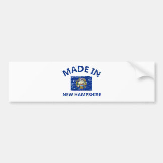 Made in NEW HAMPSHIRE United States Flag designs Bumper Sticker
