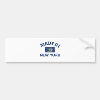 Made in New York United States Flag designs Bumper Sticker