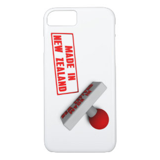 Made in New Zealand Stamp or Chop on Paper Concept iPhone 7 Case