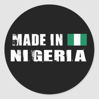 Made in Nigeria Classic Round Sticker