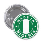 made in nigeria country flag product label round pins
