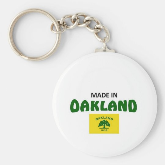 Made in Oakland California Basic Round Button Key Ring