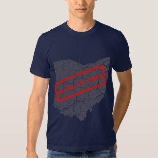 Made in Ohio Grunge Map Mens Navy Blue T-shirt