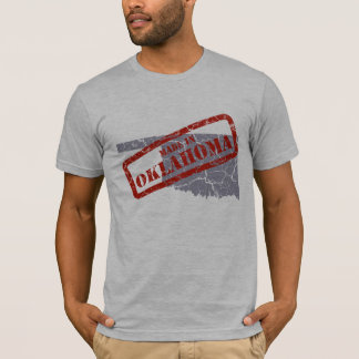 Made in Oklahoma Grunge Mens Grey T-shirt