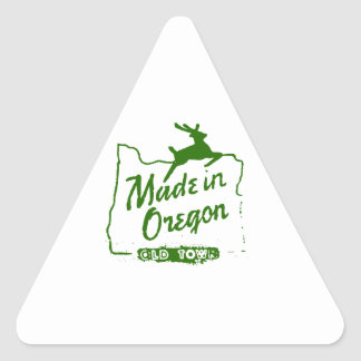 Made in Oregon - Old Town Portland Sign Triangle Sticker