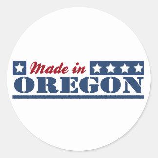 Made In Oregon Round Sticker