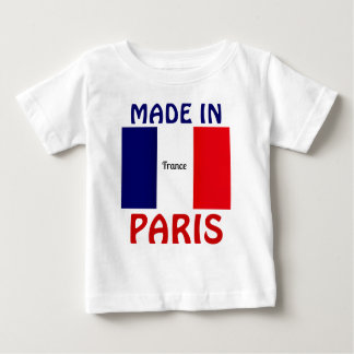 Made in Paris baby shirt