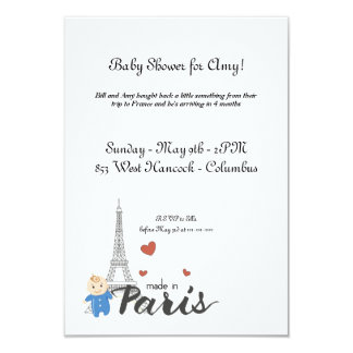 Made in Paris Baby Shower Card