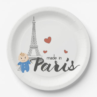 Made in Paris Baby Shower Paper Plate
