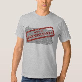 Made in Pennsylvania Grunge Mens Grey T-shirt