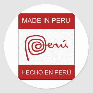 Made In Peru Classic Round Sticker