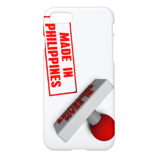 Made in Philippines Stamp or Chop on Paper Concept iPhone 7 Case