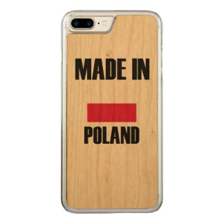 Made In Poland Flag Carved iPhone 7 Plus Case