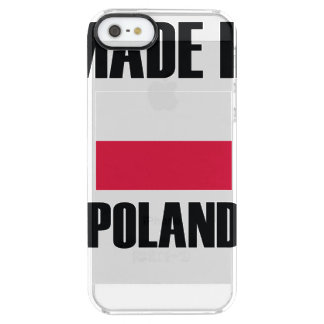Made In Poland Flag Clear iPhone SE/5/5s Case