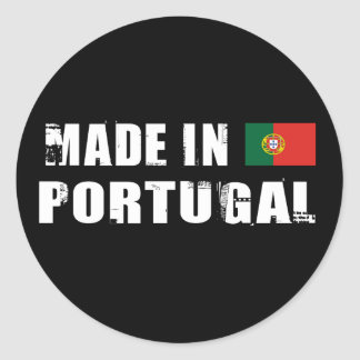 Made in Portugal Classic Round Sticker