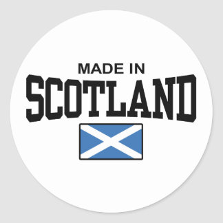 Made In Scotland Classic Round Sticker