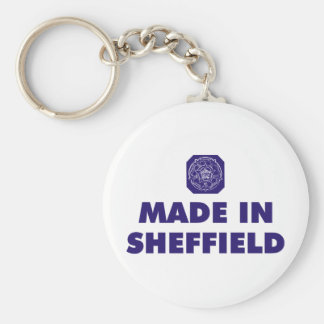 Made in Sheffield Basic Round Button Key Ring