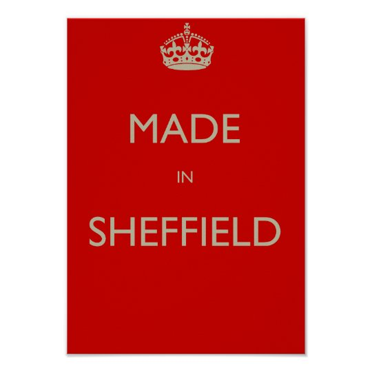 Made in Sheffield Poster