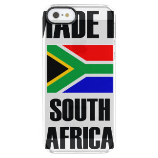 Made In South Africa Flag Clear iPhone SE/5/5s Case