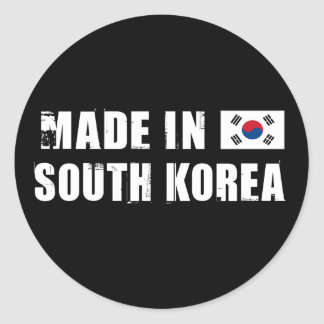 Made in South Korea Classic Round Sticker