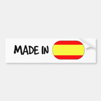 Made in Spain Bumper Sticker