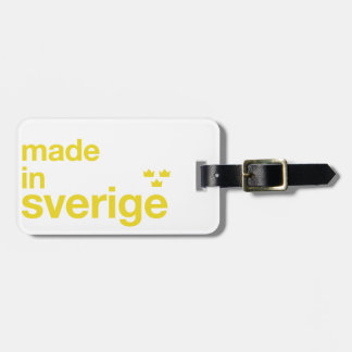 Made in Sweden & Tre Kronor / Three Crowns Luggage Tag