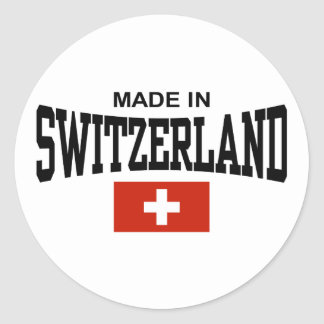 Made In Switzerland Round Sticker